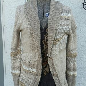 🍍NWOT BKE Boutique Lace Accent Sweater Cardigan